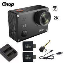 Gitup Git2 Action Camera WiFi Novatek 96660 1080P 2K 30fps Outdoor Sports Cam+Extra 950mAh Battery+Dual Charger+FPV Cable