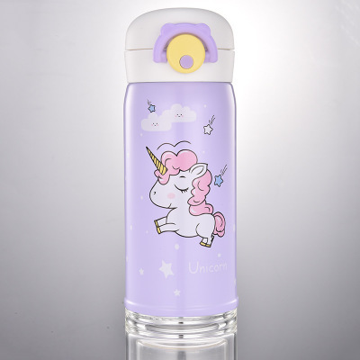 500ml Cartoon Cute Unicorn Thermos Bottle Stainless Steel Vacuum Flask Tea Coffee Thermo Cup Mug Thermal Insulation Termos