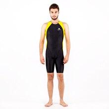 Hombre piel shark arena competencia traje de baño de los hombres bañador de natación formación competitiva de una sola pieza del traje de baño apretado trajes de surf