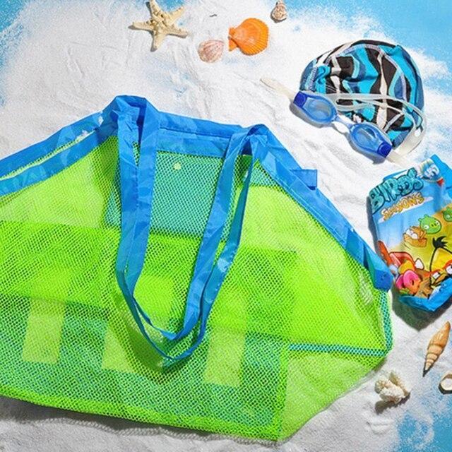 Saco de Praia portátil Dobrável Saco de Natação Para Crianças Praia Brinquedo cesta de Armazenamento Cestas de Malha Saco De Crianças Sacos de Natação Ao Ar Livre À Prova D' Água