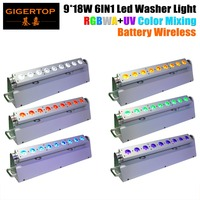 6XLot Battery Operated 2 4Ghz Wireless DMX Led Bar Light Wireless Bar Light Led Strip Wall