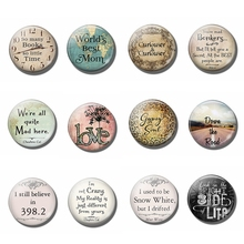 Alice In Wonderland Fridge Magnet Set Lewis Carroll Quote Magnetic Refrigerator Stickers 25MM 12pcs Round Glass Dome Memo