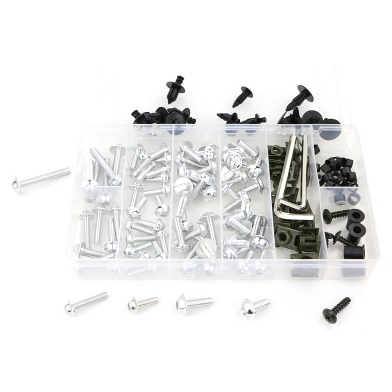 Обтекателя Болты комплект Шурупы Для Honda VFR750 VFR750F VFR800 VFR800X Crossrunner VFR1200X Crosstourer VTR1000 VTR1000F VFR1200F - Цвет: silver