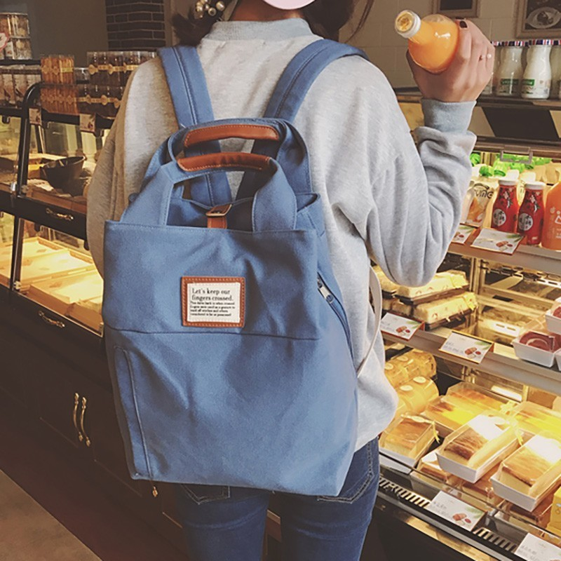 Woman Canvas Backpack Bagpack Middle School Student Backpacks Bag Back Pack College Students Fashion Backpack For Female in Backpacks from Luggage Bags