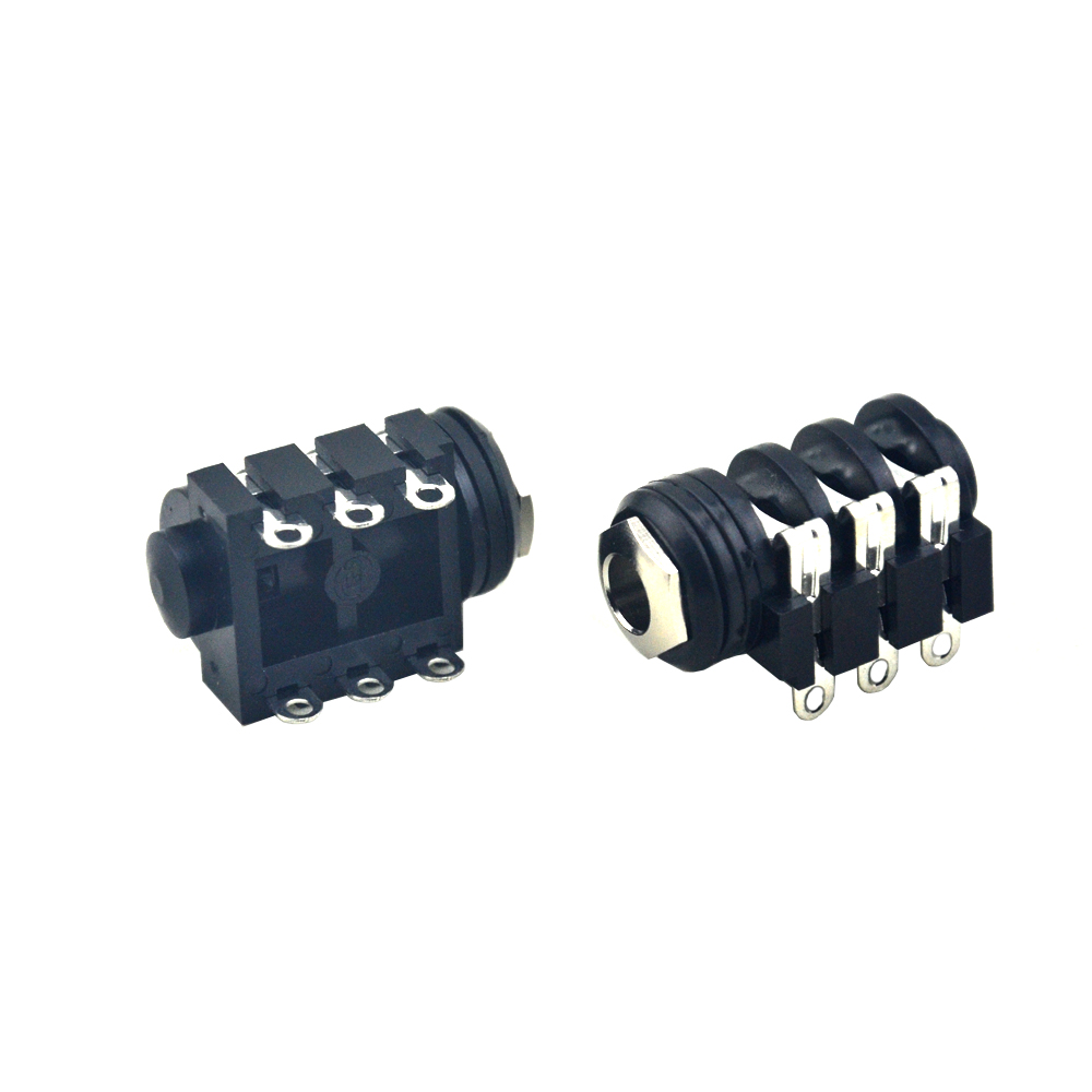 10PCS 1/4 Socket  6.35mm Port Jack for Guitar Effects Pedals PCB Mounting Stereo Jack Socket
