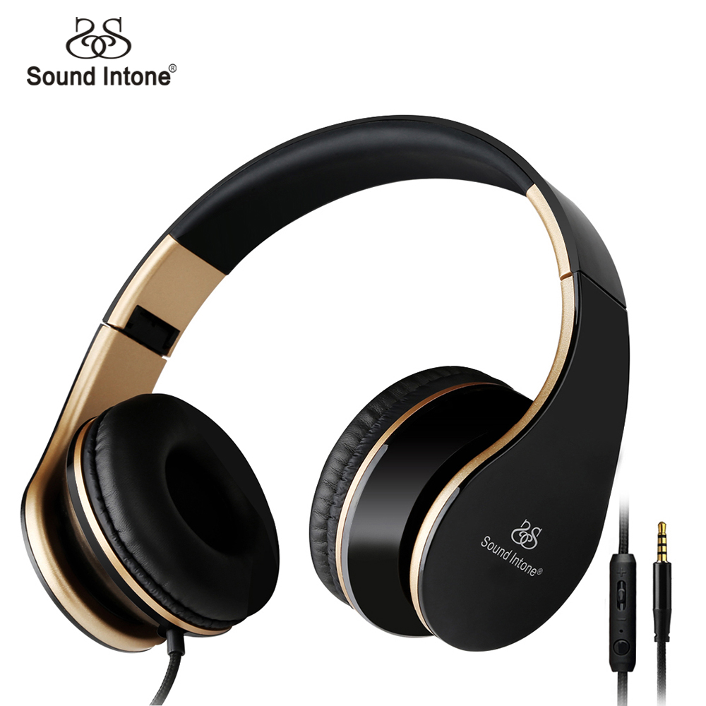 sound-intone-i65-headphones-with-microphone-and-volume-control-foldable-headset-for-iphone-6-6s-ipad-ipod-android-device