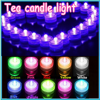 12pcs Romantic Waterproof Submersible Led Tea Light Electronic Candle Light For Wedding Party Christmas Valentine Decoration Home Decor