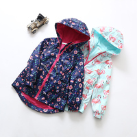 New Fashion Girls Hooded Windbreaker Jacket Waist Collection Windproof Rainproof Outdoor Leisure Special Offer Free Shipping