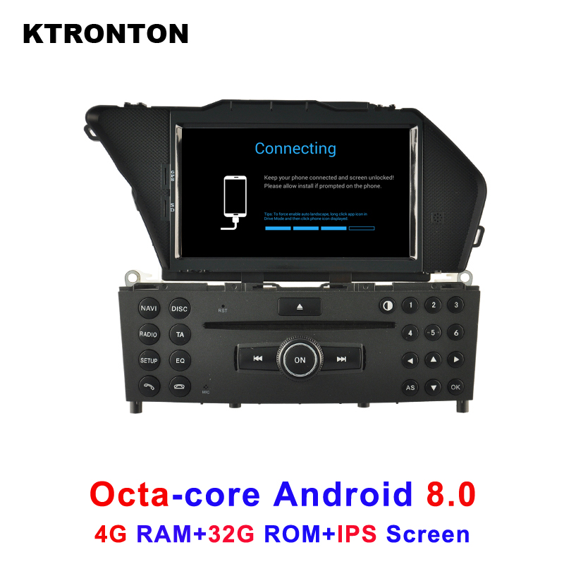 Updated 4GB RAM 32GB ROM ! Octa Core Android 8.0 Car DVD GPS for Benz GLK X204 GLK 300 GLK 350 with Radio DVR WiFi IPS Screen