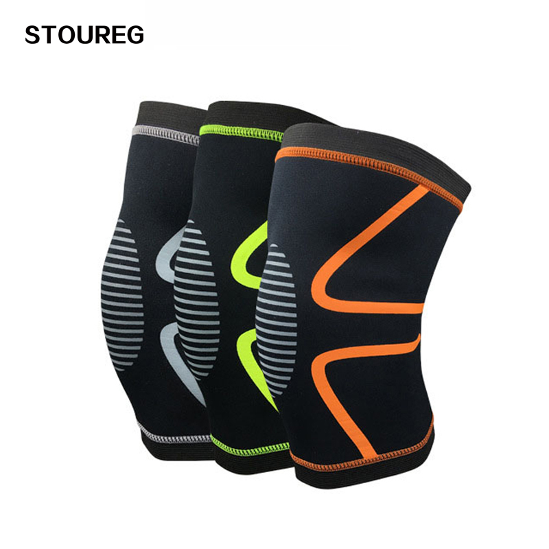 1 Piece Knee Support For Sport Knee Pads For Basketball Football Training Elastic Kneepads 3 Colors oper adjustable medical hinged knee orthosis brace support ligament sport injury orthopedic splint osteoarthritis knee pain pads