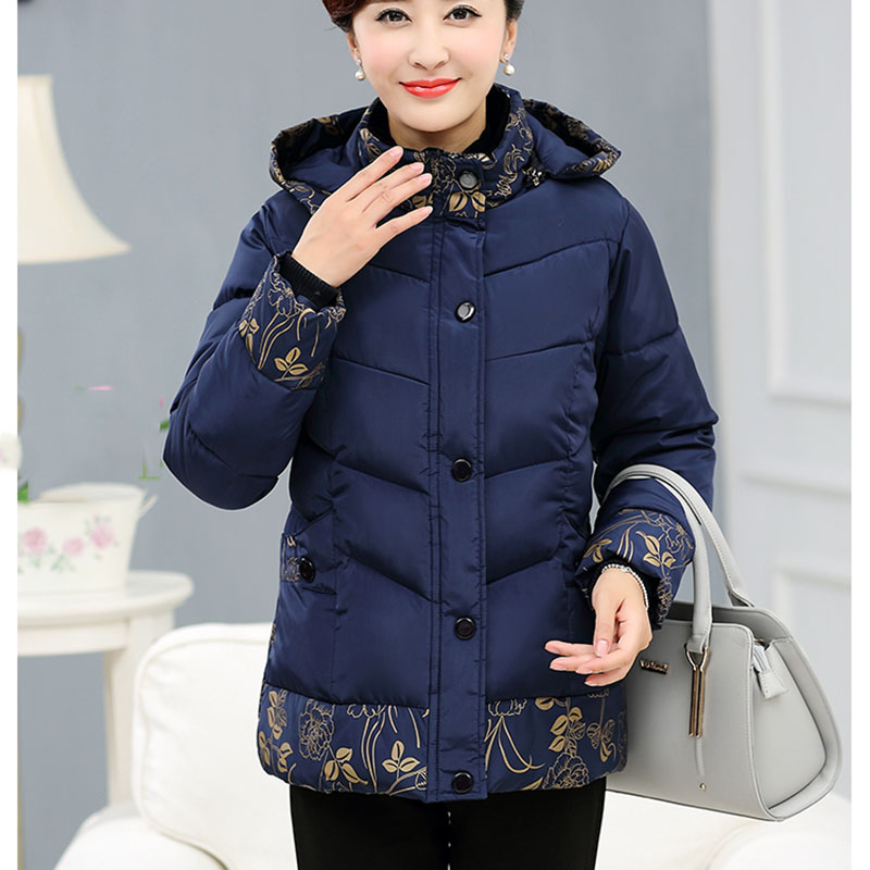 Winter cotton jacket middle age elderly women cotton coat winter mother  clothing print thick wadded jacket plus size-in Parkas from Women s  Clothing on ... 94dae5d4d