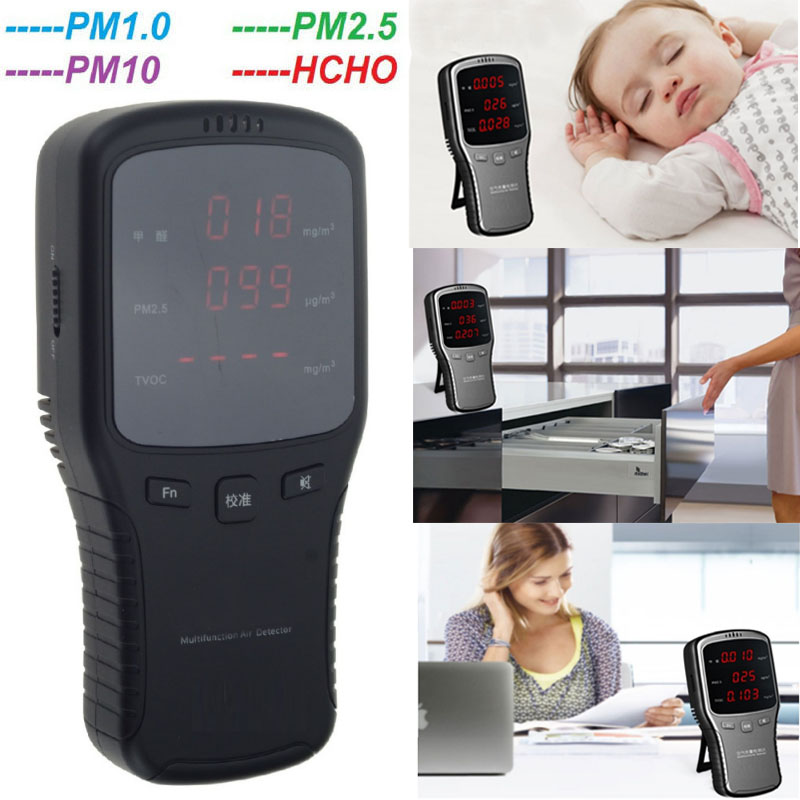 Sensor Tester gas detector HCHO Meter Air Detector with Rechargeable Lithium Battery air quality monitor PM 2.5 co2 detector