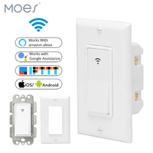 WiFi Smart Wall Light Switch Mobile APP Remote Control No Hub Required Works with Amazon Alexa Google Home IFTTT smart home