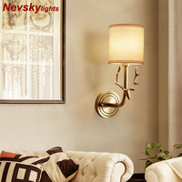 Antler lamp Wall light for home arandela Wall led Lamp Modern Bedside Lamps for Bedroom wandlamp Fixtures Classic copper Sconce