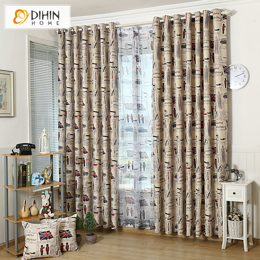 DIHIN 1 PC New Arrival British Fashion Kids Curtains For Children Room  Sheer Curtain For Girls Part 59