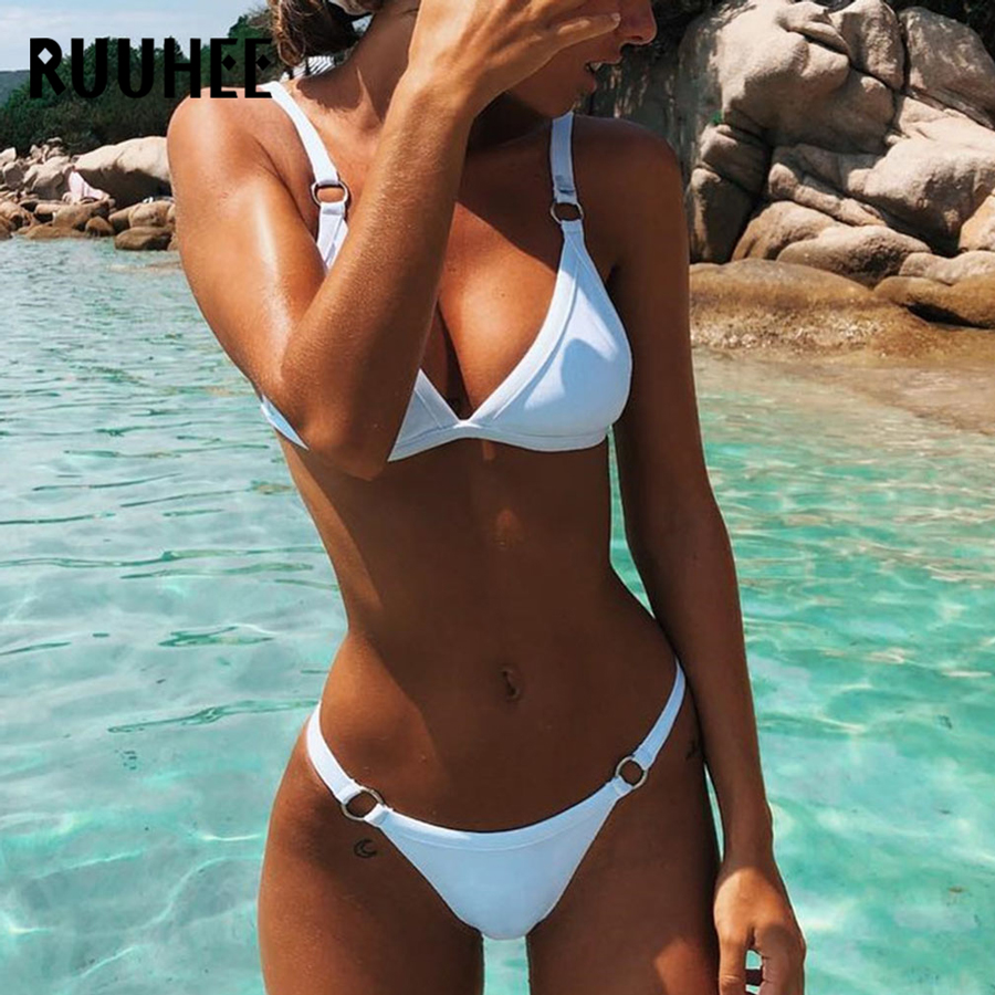 RUUHEE Swimsuit Women Micro Bikini Swimwear Bathing Suit Brazilian Bikini Set 2018 Beachwear Swimming Suit For Women Biquini