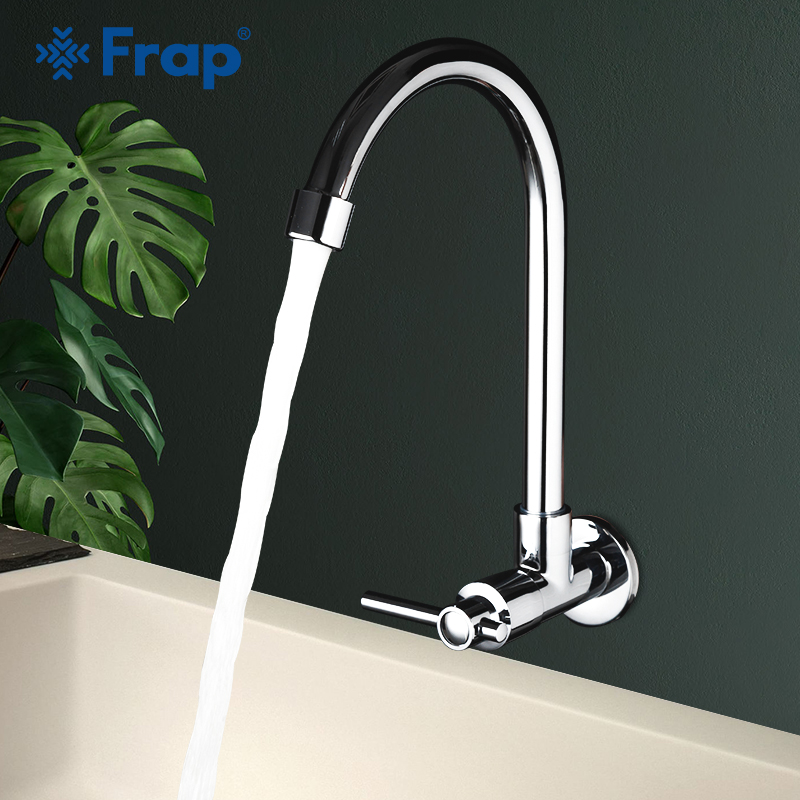 Frap Single Cold Water Kitchen Faucet Mixers Sink Tap Wall Mounted Flexible Wall Kitchen Faucet Kitchen Accessories Y40524