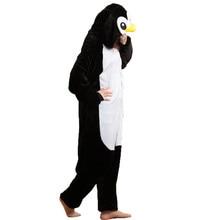 Животное Пингвин onepiece пижамы для взрослых женские зимние kigurumi  Свободный комбинезон унисекс с капюшоном Кигуруми для мужч. bed000c10d26f