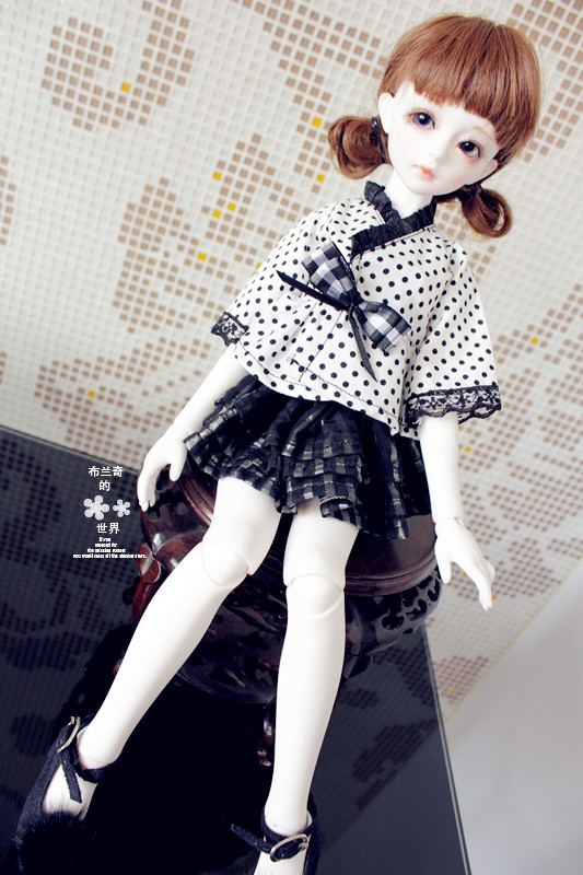 BJD / SD doll clothes / baby clothes Princess sweet style girl shirt+skirt dress for 1/4 1/3 1/6 Bjd Doll birthday gifts toy