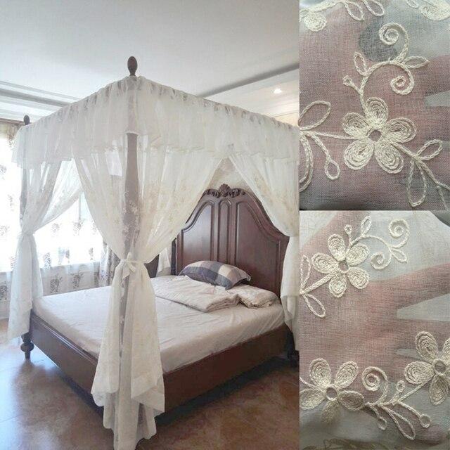 Free Bestickt Baldachin Bett Vorhang Valance Gardinen Europa Stil Net Room  Home Dekoration Moskito Rmischen With Bett Vorhang