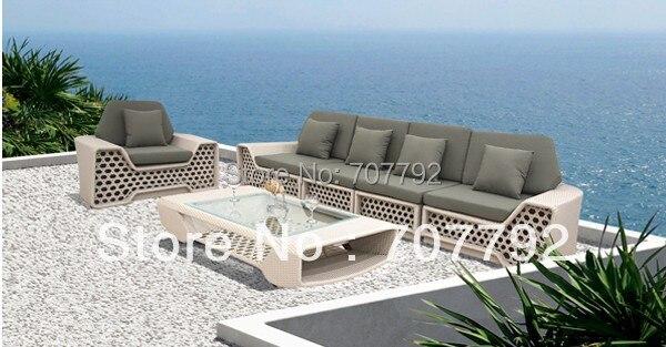 NUEVO! Fancy mimbre al aire libre muebles sofá set en Jardín Sofás ...