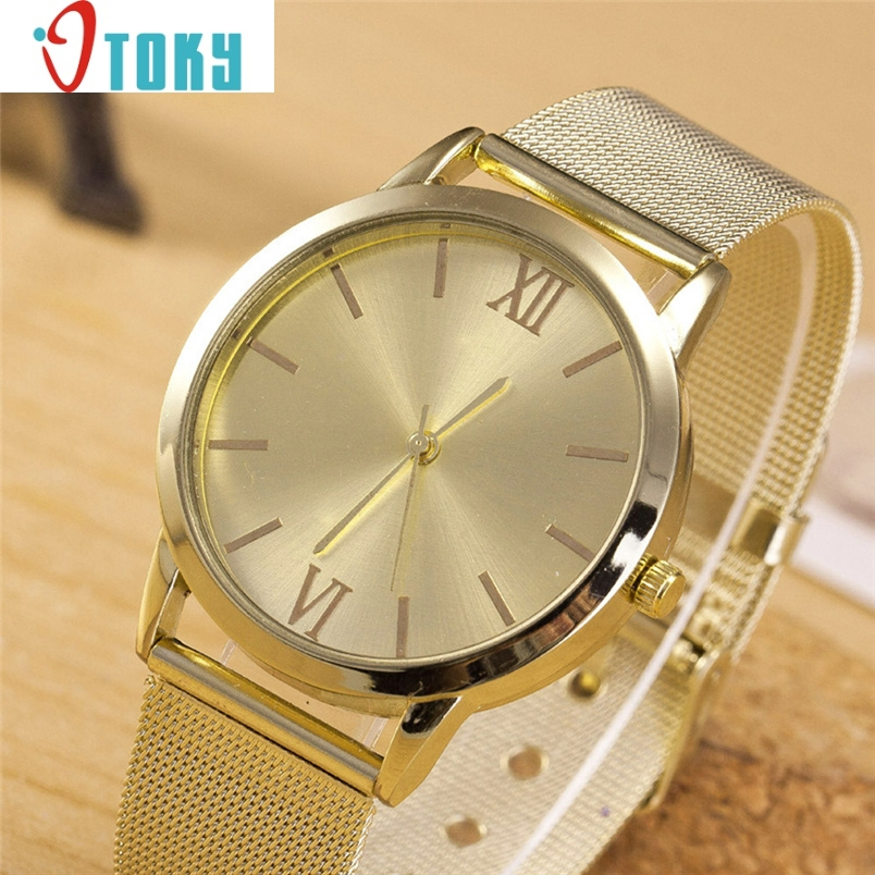 chinese watch women 1PC Ladies Gold Stainless Steel Mesh Band Wrist Watch Oulm relogio uhren Ma31 Dropshipping  high quality women s watch women ladies silver stainless steel mesh band wrist watch top gifts dropshipping m18