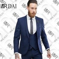 MD-030 Hommes costumes Veste et Pantalon Mixte Bleu et Violet style slim fit hommes tux royal bleu smoking de mariage costumes