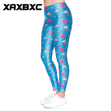 b7018c62e4 2018 D1872 Heart Diamond Rainbow Unicorn Print Push Up Slim Tights Fitness  Women Jogging GYM Yoga