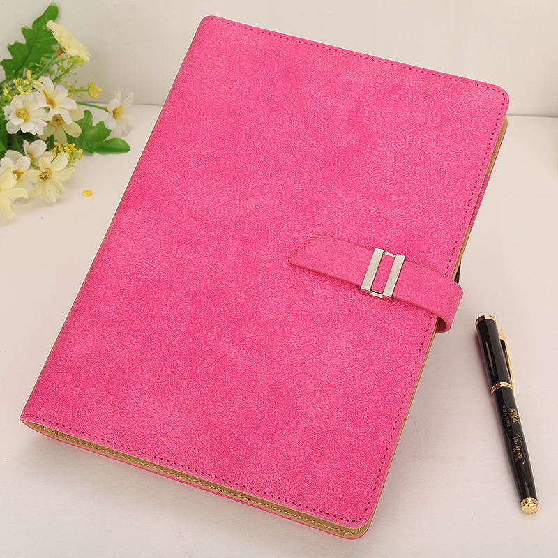 A5 Leather Binder Stationery Office Girl Business Enterprise Notebook Loose leaf Notebooks Lovely Notebook with Bucket Japan
