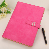 A5 Leather Binder Stationery Office Girl Business Enterprise Notebook Loose Leaf Notebooks Lovely Notebook With Bucket