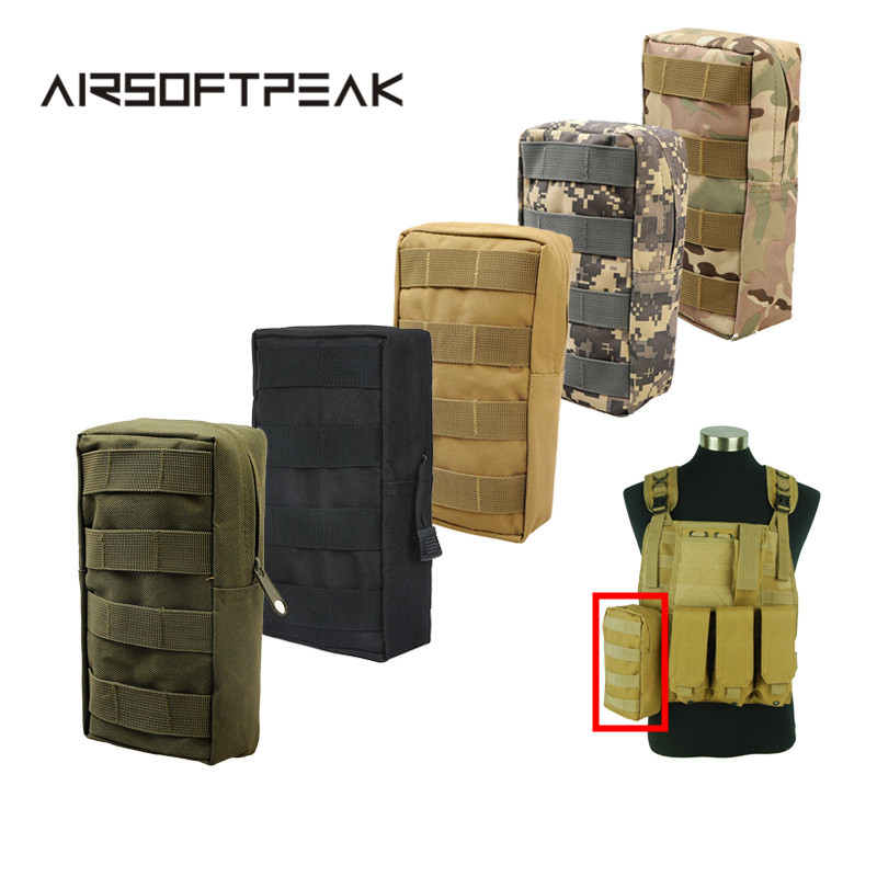 AIRSOFTPEAK Tactical Vest Pouch Accessory Tool Waist Bag Nylon Molle Utility Fanny Pack Military Paintball Outdoor Hunting Bags jinjuli nylon tactical pouch