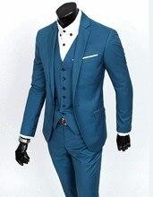 Brand New Groom Tuxedo Groomsmen 4 Colors Wedding/Dinner/Evening Suits Best Man Bridegroom (Jacket+Pants+Tie+Vest) B19