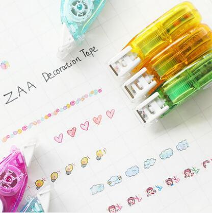 Плюс декоративные ленты маскировки DIY Скрапбукинг коррекция ленты для письмо дневник канцелярские школьные принадлежности