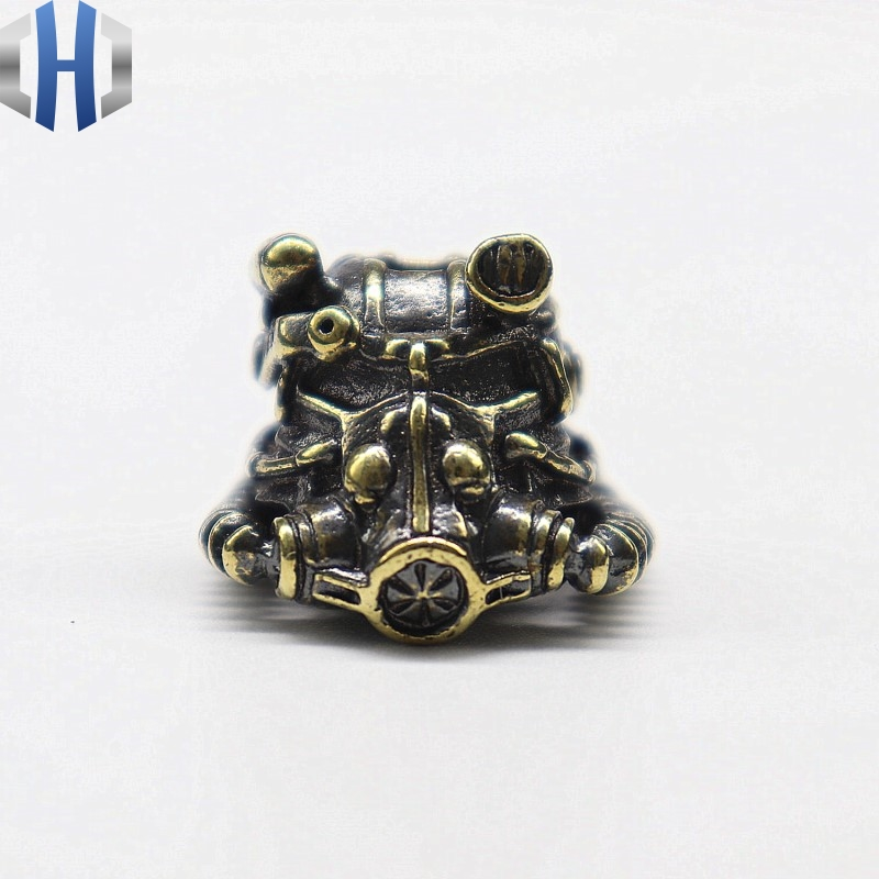Brass Radiation Engineer Knife Pendant Pure Copper DIY Hand Knitting Accessories Keychain Separated Beads Paracord Beads
