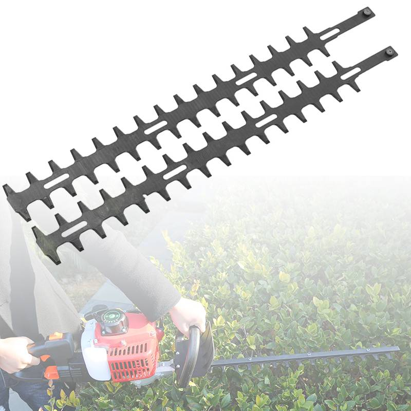 Teeth Pole Hedge Trimmer 24Inch Cutter High Branch Shear Scissors Upper Lower Blades Bush Cutter Head Grass Trimmers