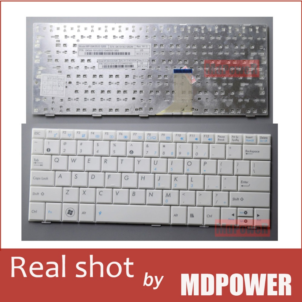 FOR ASUS EPC 100PX 1001HA 1005PX 1005HA 1008HA white laptop keyboard
