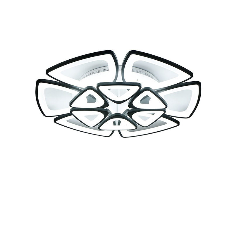 Black Modern Ceiling Lights Fixtures For Dining Living Room Acrylic Lampshade Bedroom Lamp Body Matt White Space 10-30 Meters цена