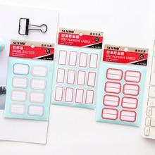 купить 1pack/lot Self-adhesive Paper Sticker Blank Name Sticker Labels Memo Stickers Set Stationery Reminder Bookmark Seal Label онлайн