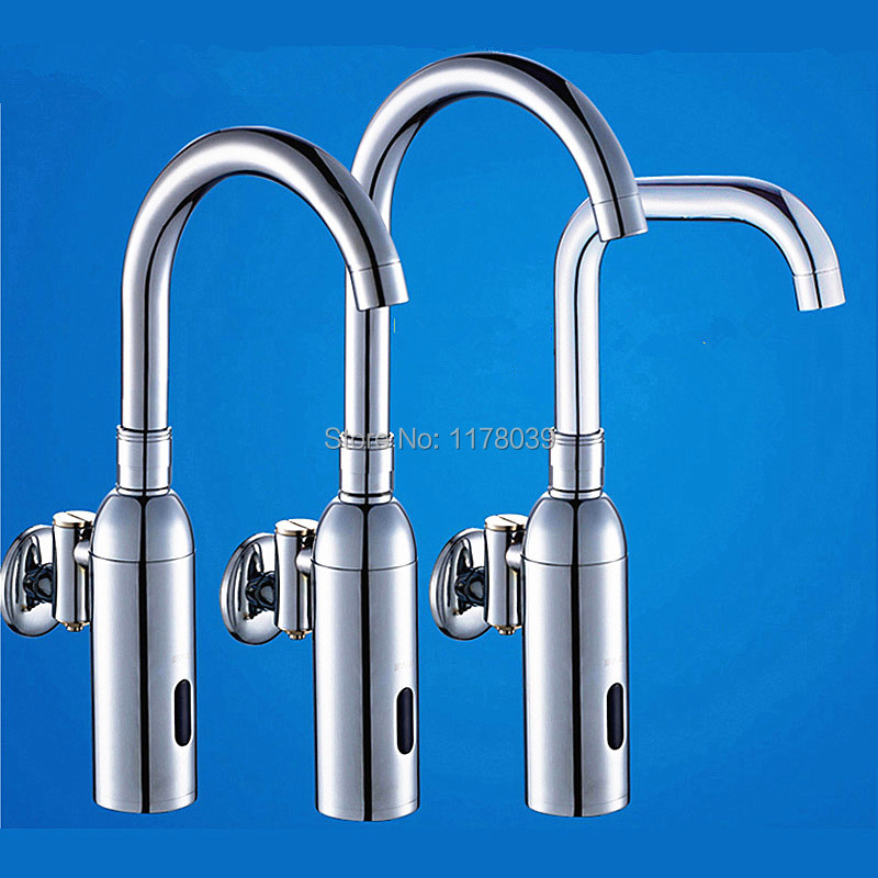 Us 68 29 13 Off Into Wall Br Automatic Sensor Faucet Mounted Single Cold Dc Smart Induction Touchless Faucets J16977 In Basin
