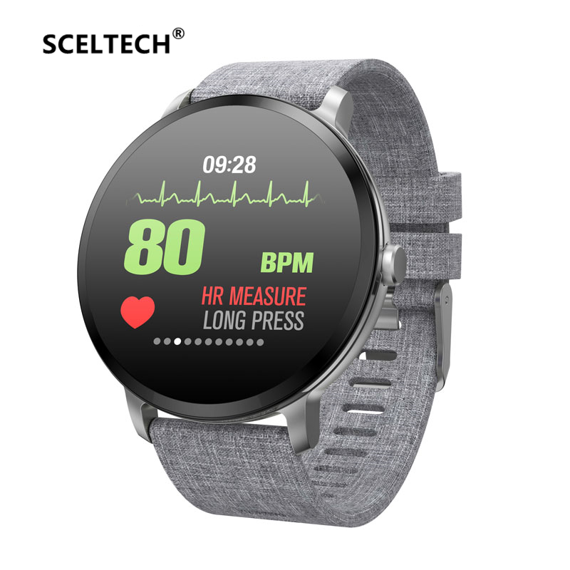SCELTECH V11 Smart Watch Men Heart Rate Waterproof Weather Fitness Tracker Clock Smartwatch For IOS Android Wearable Devices