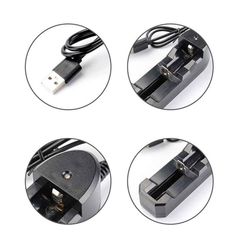 3.7 V 18650 واحدة فتحة شاحن المحمولة 18350 16340 14500 USB واجهة E-السجائر مستقلة بطارية ليثيوم أيون شحن جهاز