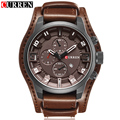 2016 Curren Men's Casual Sport Quartz Watch Mens Watches Top Brand Luxury Quartz-Watch Leather Military Watch Wrist Male Clock