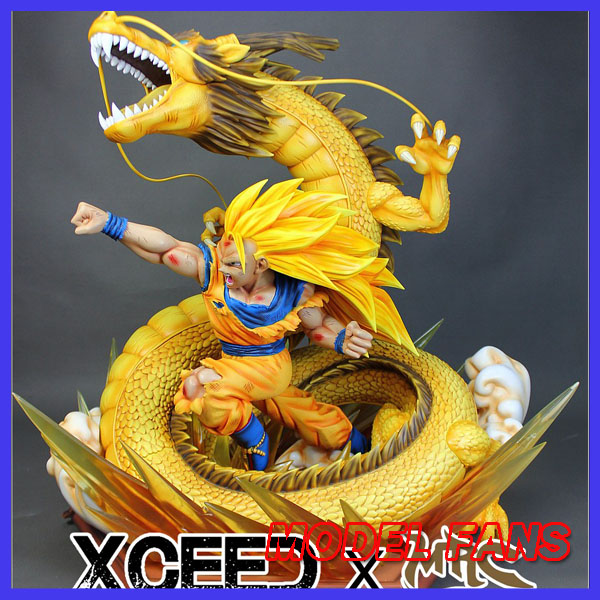 MODEL FANS IN-STOCK copy version MRC 60cm height Dragon Ball Z super saiya 3 goku dragon fist gk resin statue for collection model fans in stock the same paragraph tsume 50cm fist of the north star lao gk resin made for collection