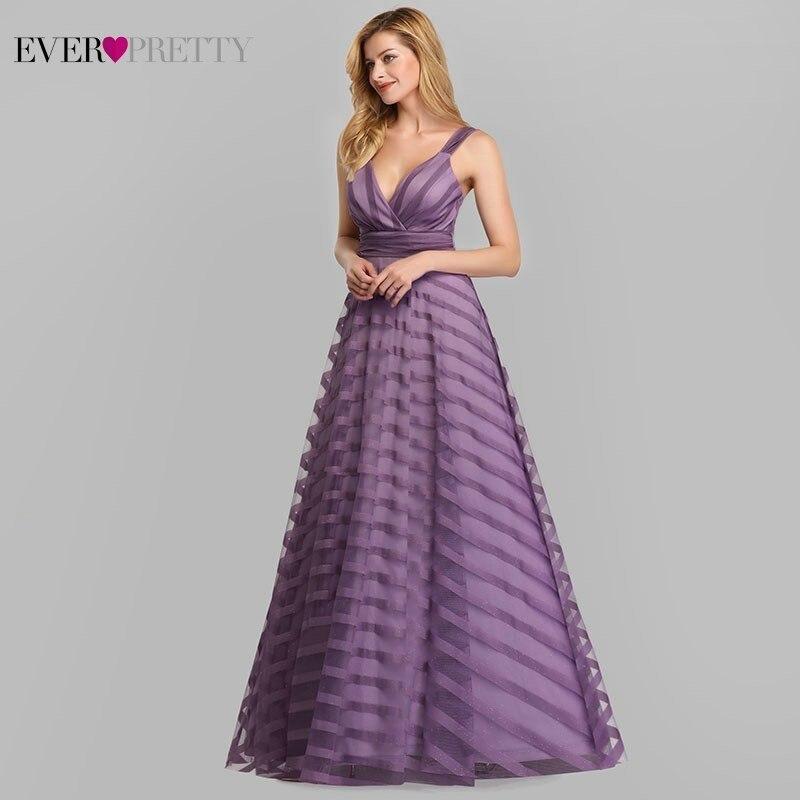 Vestido longo de baile de lavanda, vestido