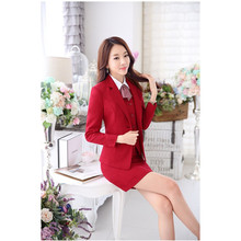 Real Women Skirt Suits Formal Women Suits With Skirt And Jacket Sets Work Wear Clothes OlL Office Ladies Office Business Suits