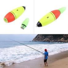 1pcs 98x25mm Multicolor Foam Fishing Floats Buoy Bobber Slip Drift Tube LED Indicator Fishing Accessory + 2 LR41 Button Battery