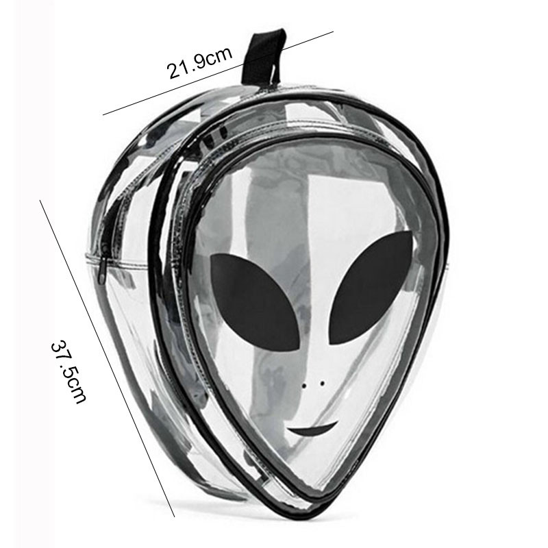 Mochila Divertida Transparente Alien