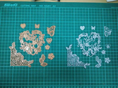 Rose gold Metal Die Cutting Scrapbooking Embossing Dies Cut Stencils Decorative Cards DIY album Card Paper Card Maker snowflake hollow box metal die cutting scrapbooking embossing dies cut stencils decorative cards diy album card paper card maker