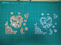 Rose Gold Metal Die Cutting Scrapbooking Embossing Dies Cut Stencils Decorative Cards DIY Album Card Paper