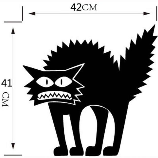Kid's Cat Themed Glass Sticker